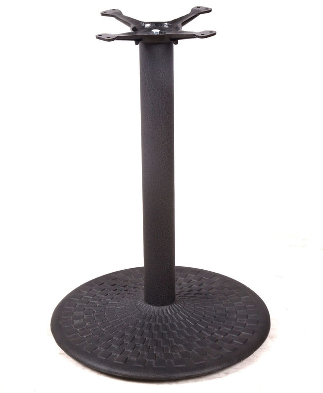 Different Design Bistro Table Base Color Customized Cast Iron Material Round Table