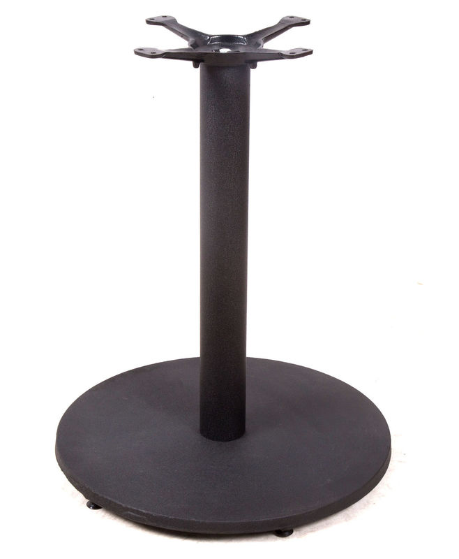 Commercial Cross Table Base Shaped Customized Modern Style For Bistro Table