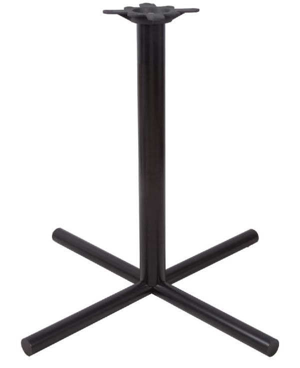 Restaurant Dining Table Legs Round Metal Bar Table Base Black / Brown Colour