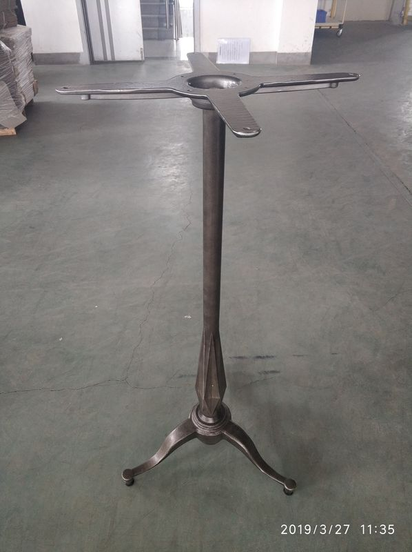 Metal Dining Table Legs And Bases Bar Height 41'' Powder Coat Surface Cast Iron Rusty Finish